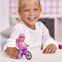 Bábika Evička s bicyklom 4