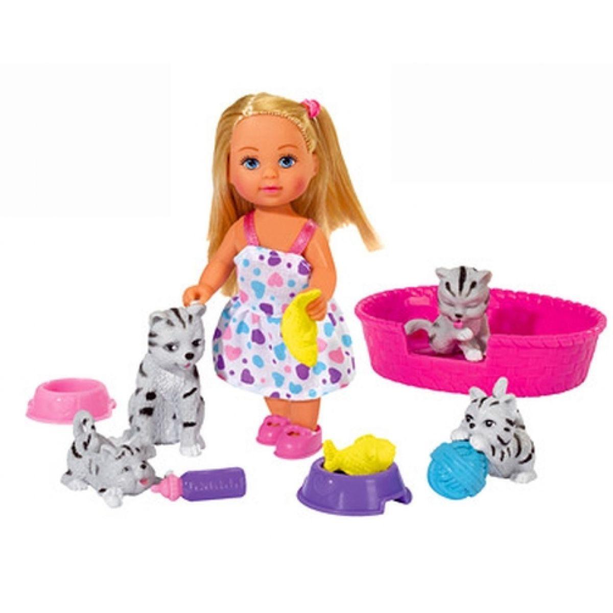 Simba Bábika Evička s domácimi miláčikmi Mačiatka