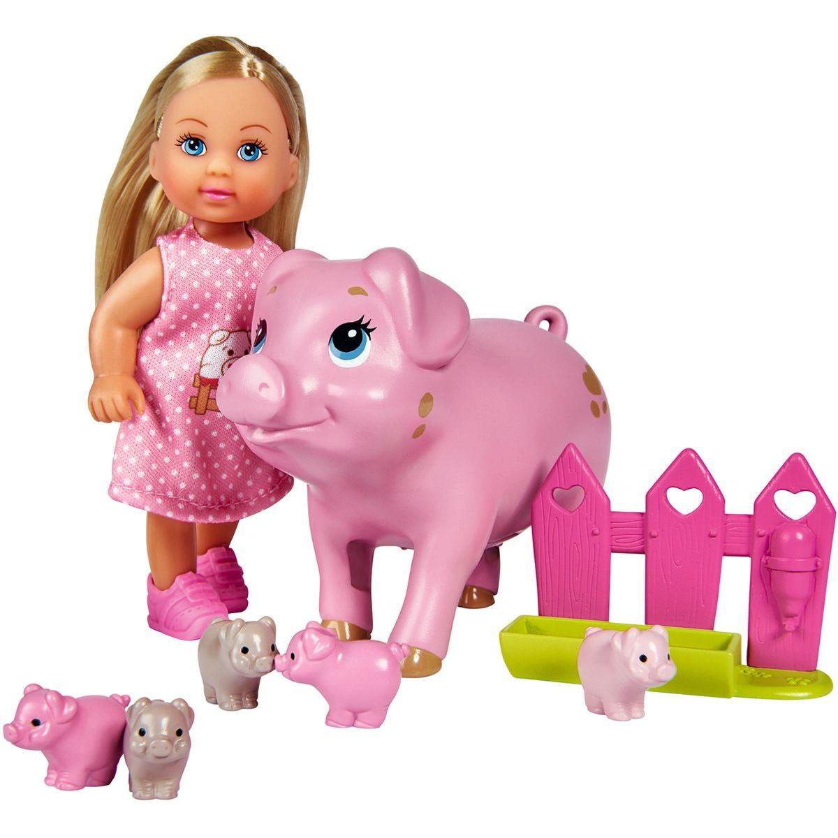 Simba Bábika Evi s prasiatkami