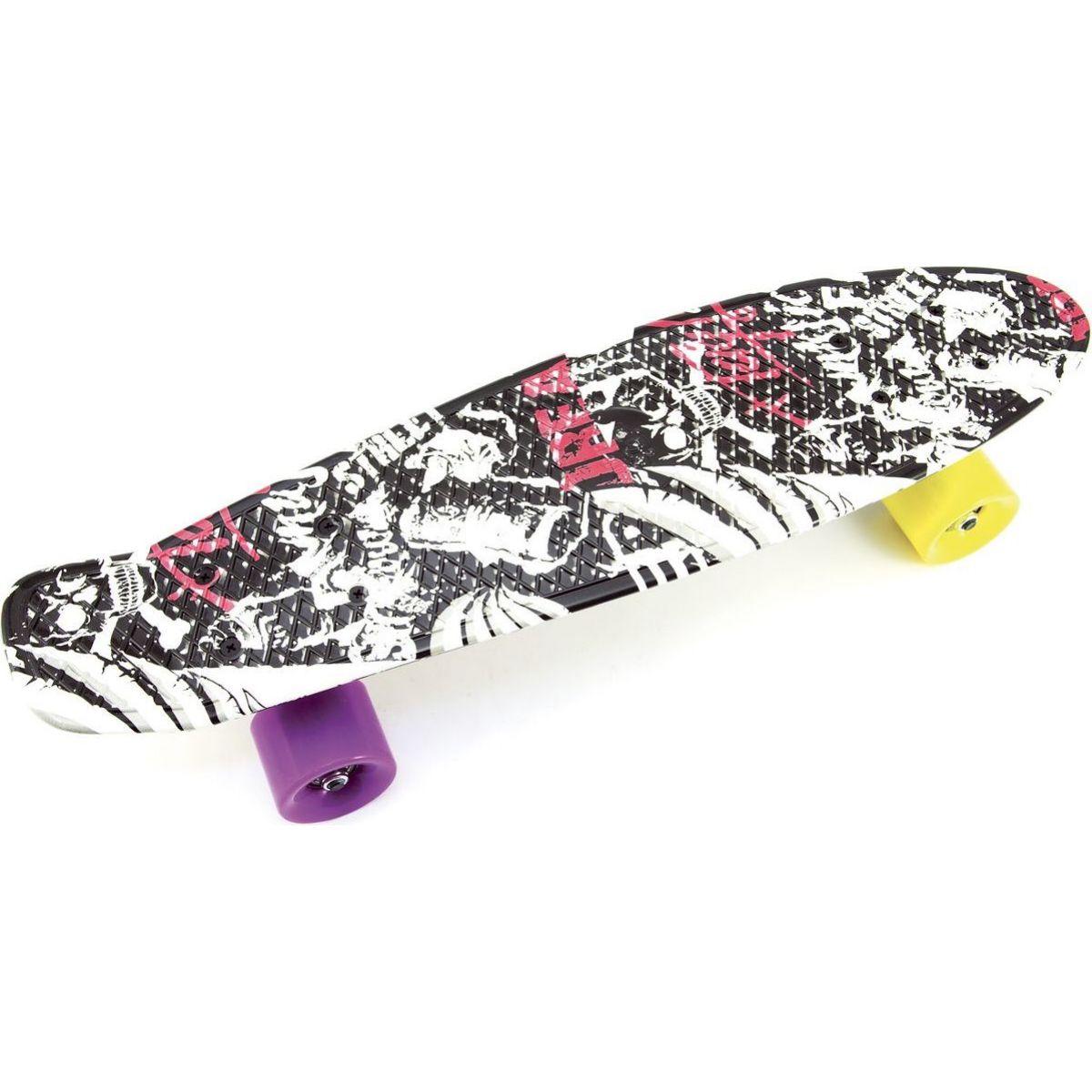 Skateboard pennyboard 60 cm čiernobiely vzor