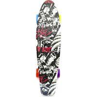 Skateboard pennyboard 60 cm čiernobiely vzor 2
