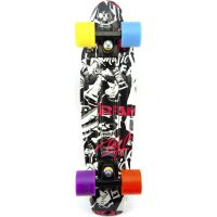 Skateboard pennyboard 60 cm čiernobiely vzor 3