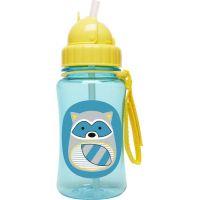 Skip Hop Zoo Fľaša so slamkou Medvedík čistotný