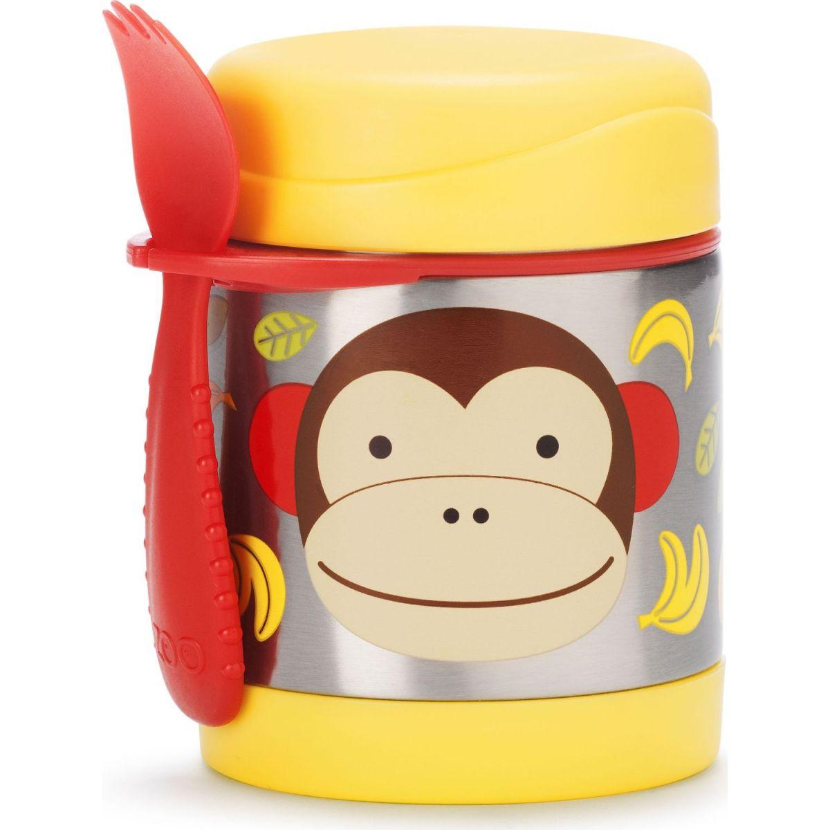 Skip Hop Zoo Termoska na jídlo s vidličkou Opička