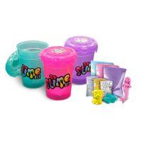 Slime sliz 3pack pre dievčatá zelený, fialový, ružový
