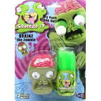 Slimy sa zombie hlavou 80g slizu zelený sliz