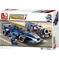 Sluban B0351 Formule F1 Racing Car Modrá 196 dílků