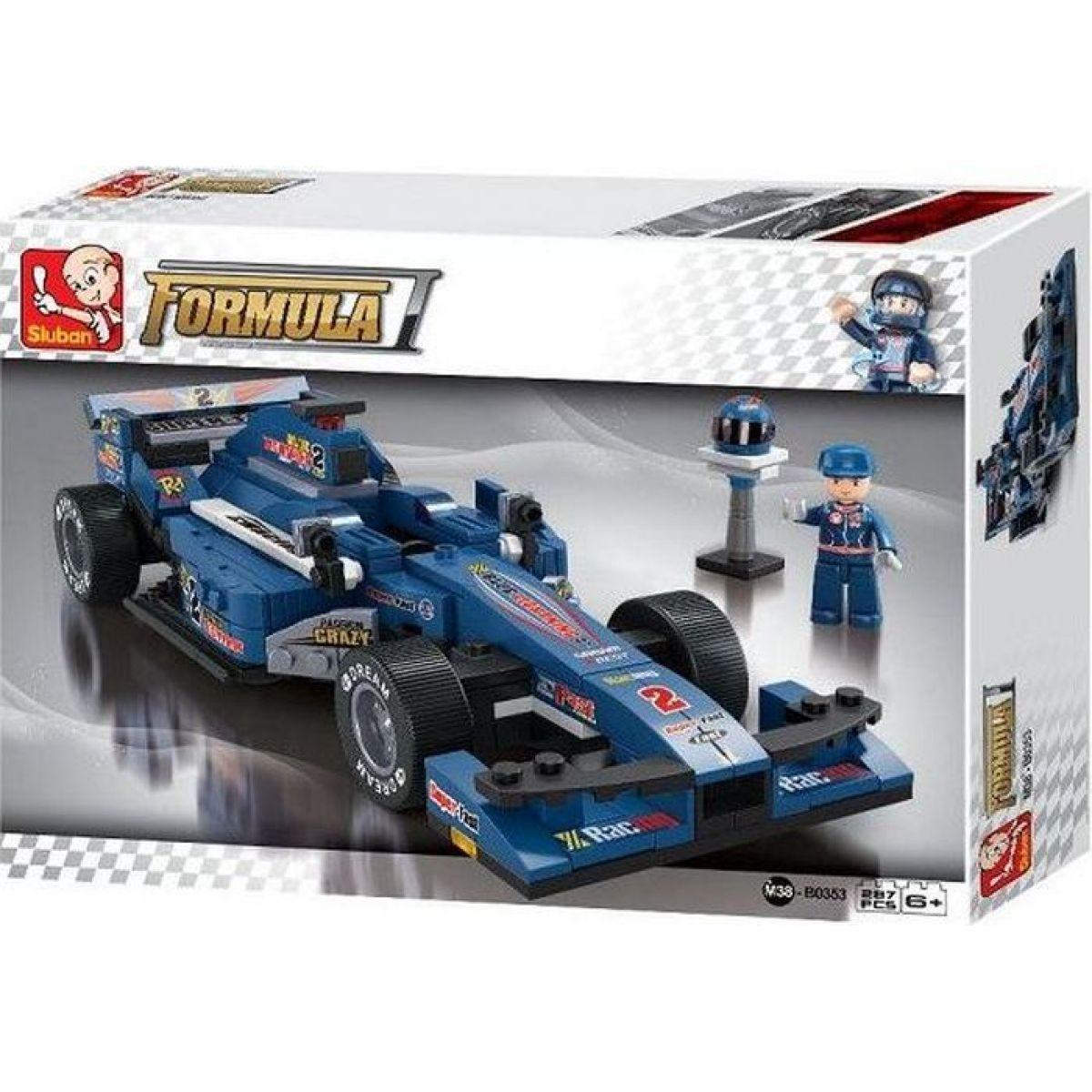 Sluban B0353 Formule F1 Racing Car Modrá 257 dílků
