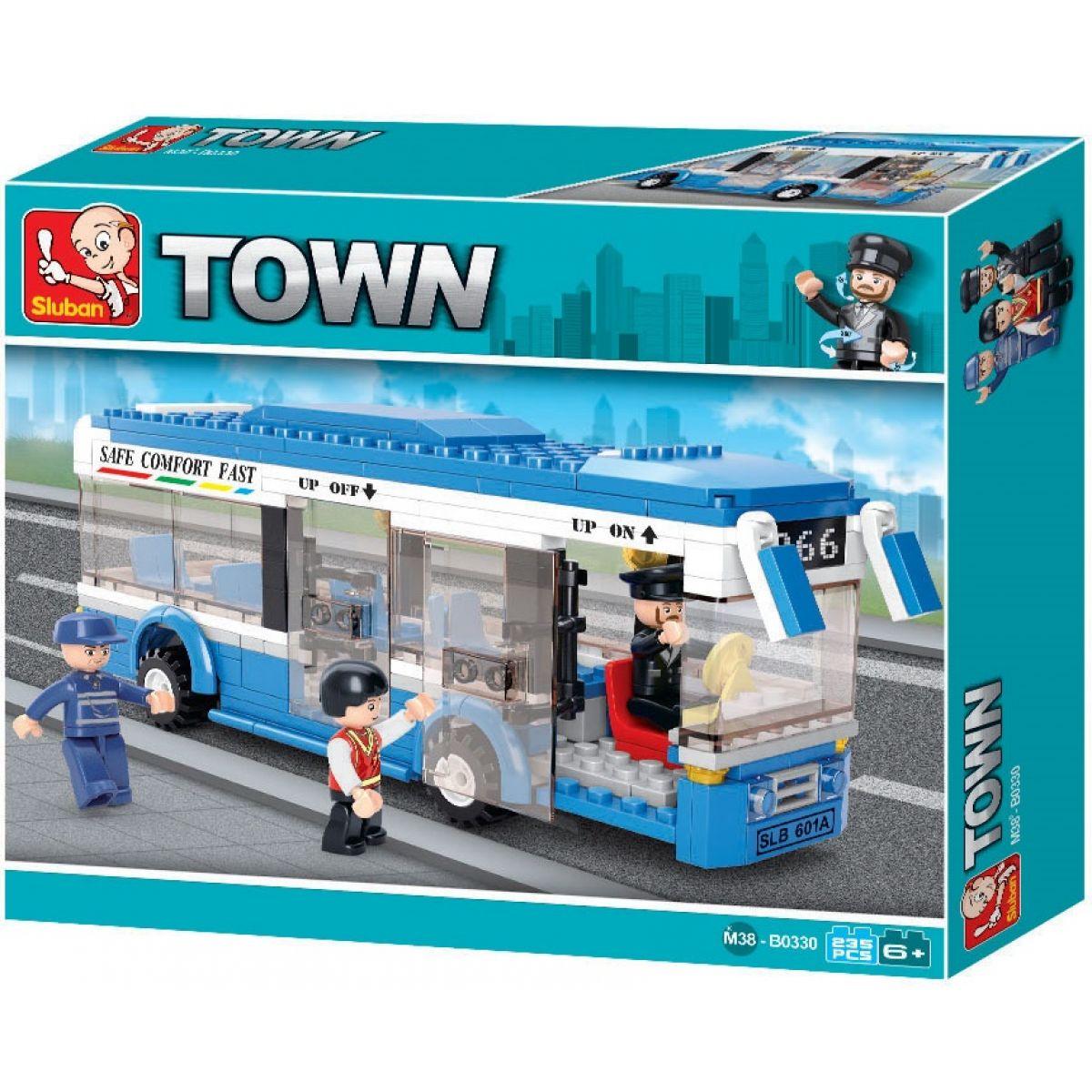 Sluban B0330 Town Linkový autobus 235 dílků