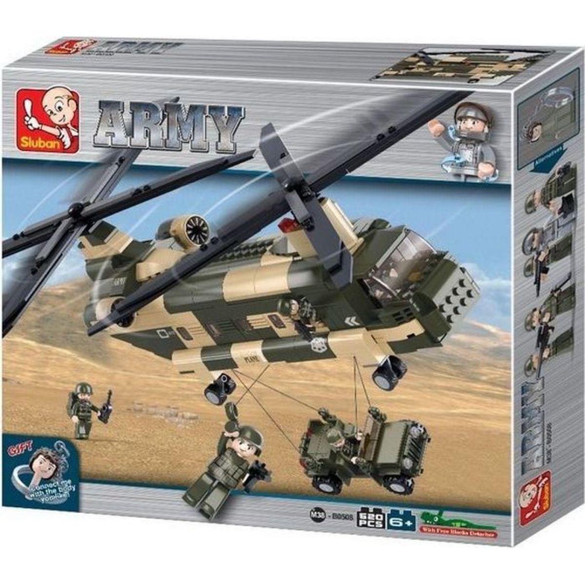 Sluban B0508 Army Transportní helikoptéra Chinook 520 dílků