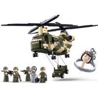 Sluban B0508 Army Transportní helikoptéra Chinook 520 dílků 2