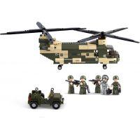 Sluban B0508 Army Transportní helikoptéra Chinook 520 dílků 3