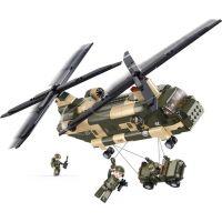 Sluban B0508 Army Transportní helikoptéra Chinook 520 dílků 4