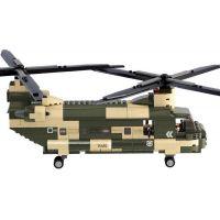 Sluban B0508 Army Transportní helikoptéra Chinook 520 dílků 5