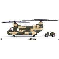 Sluban B0508 Army Transportní helikoptéra Chinook 520 dílků 6