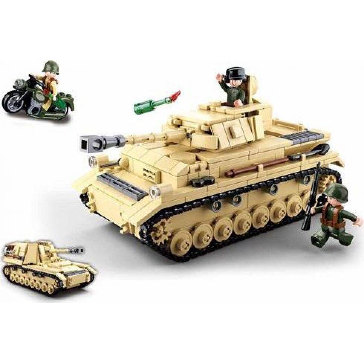 Sluban WWII Tank Panzer IV. 2v1