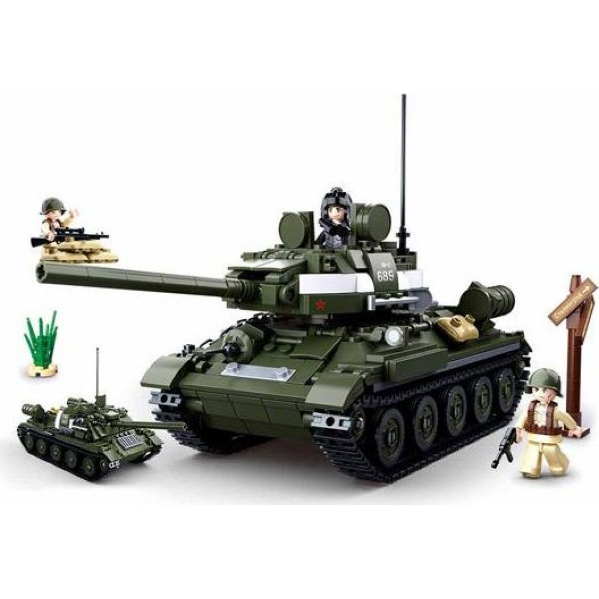 Sluban WWII Tank T34 alebo T85 2v1