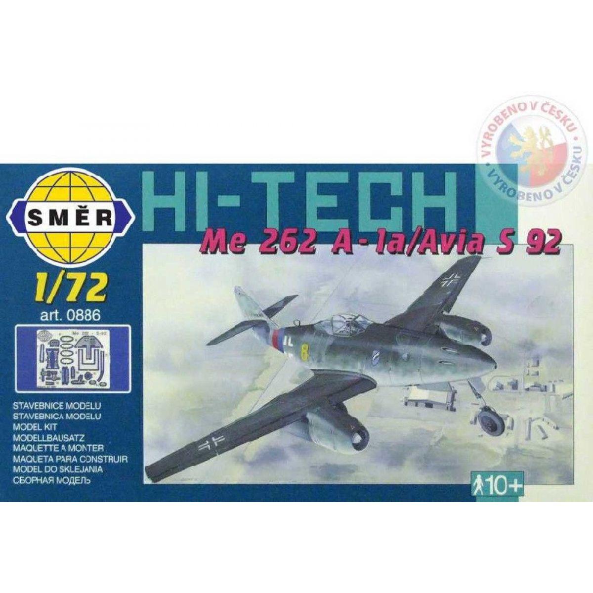 Smer Model Messerschmitt Me 262 A - la Avia S 92 HI TECH 1:72