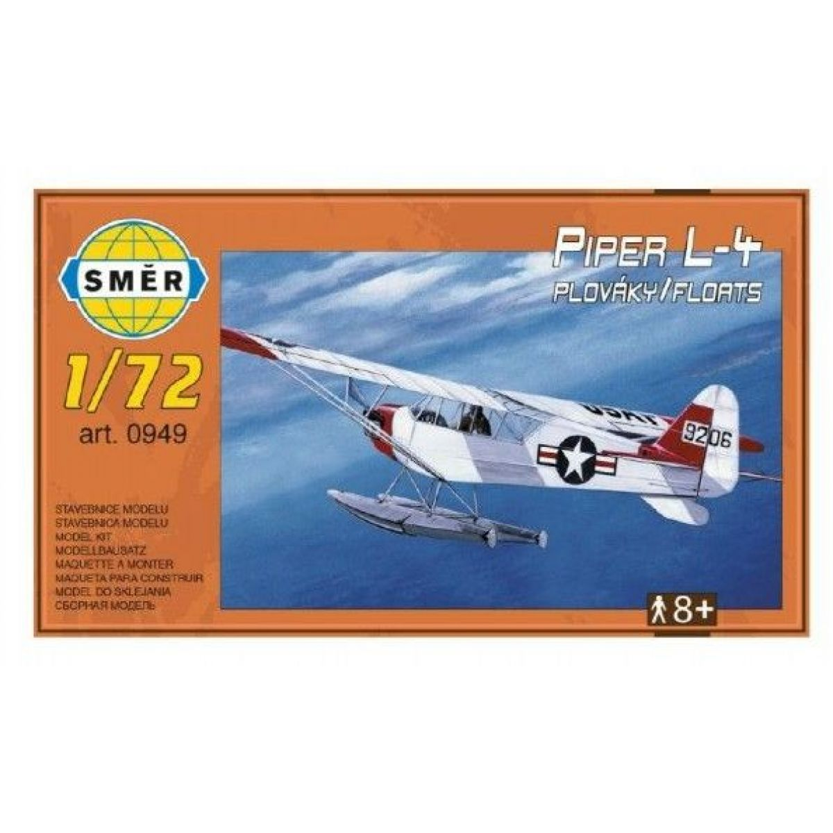 Smer Model Piper L4 plaváky 1:72