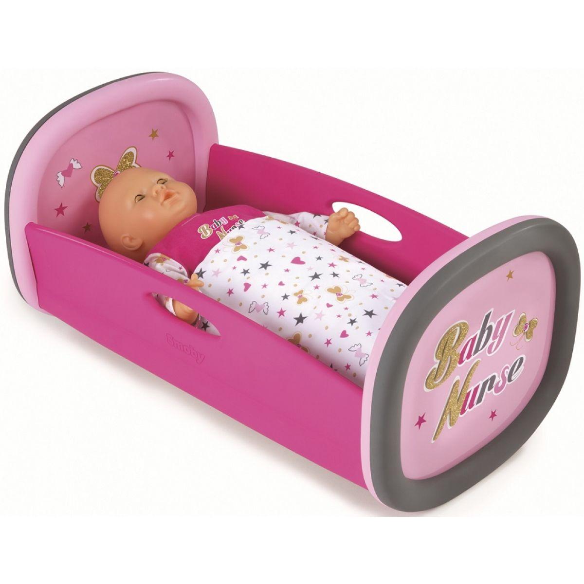 Smoby Kolíska pre bábiku 42 cm Baby Nurse s perinkou