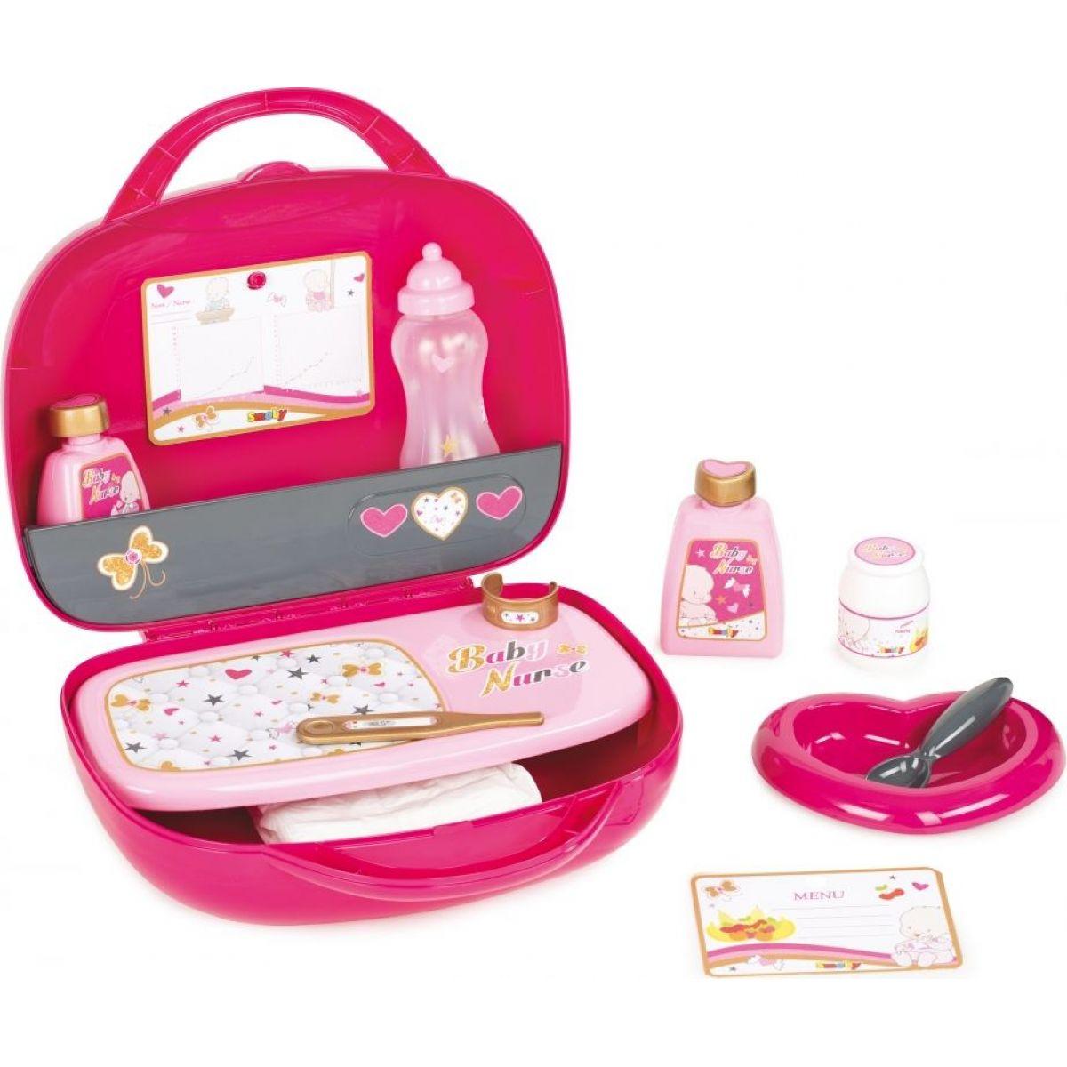 Smoby Prebaľovací set pre bábiku Baby Nurse Zlatá edícia v kufríku