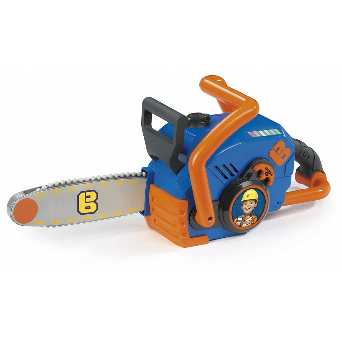 Smoby Detská motorová píla Staviteľ Bob elektronická s pohyblivou reťazou