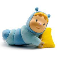 Smoby 211072 modrá svietiaca bábika s vankúšikom Cotoons Chowing pre kojencov