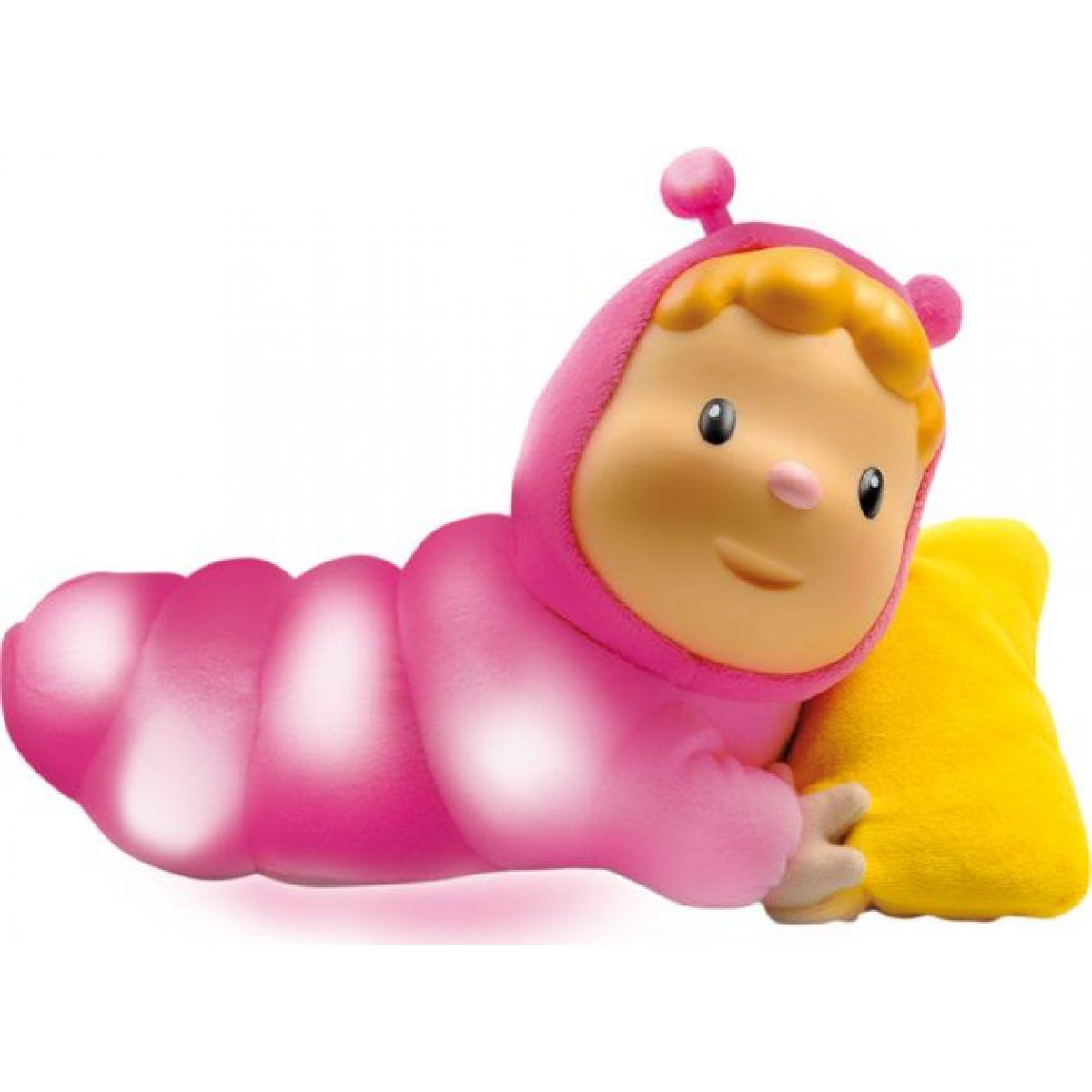 Smoby 211333-1 ružová svietiaca bábika s vankúšom Chowing