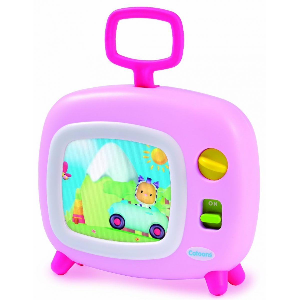Smoby 211316-1 ružová farebný televízor Cotoons s hudbou pre kojencov