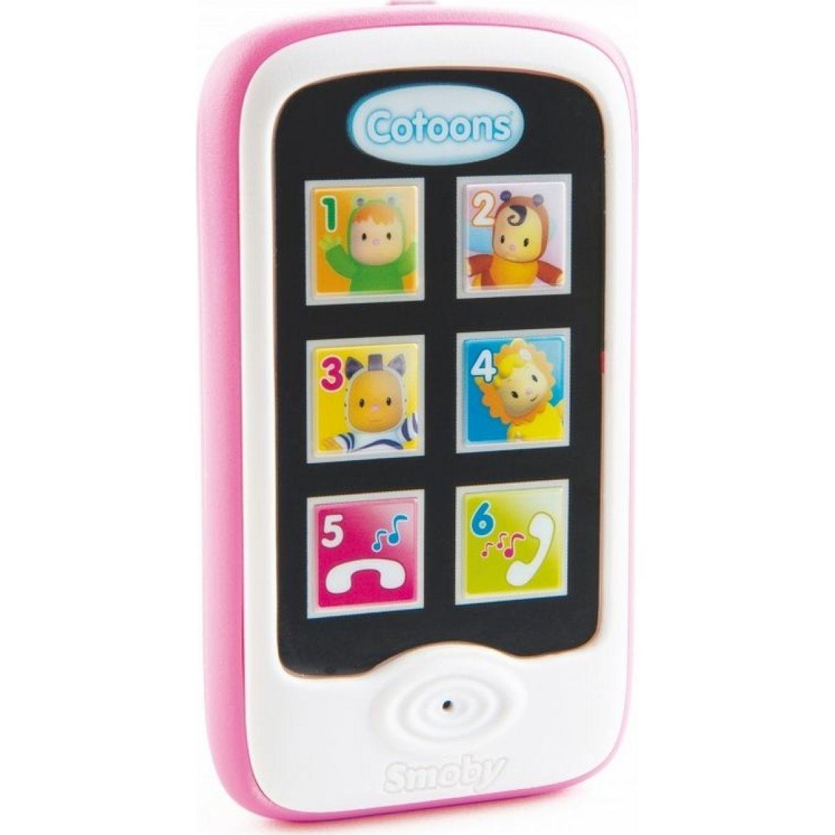 Smoby Cotoons Smartphone ružová