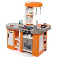 Smoby Kuchynka Tefal Studio XL Bubble oranžovo-šedá elektronická