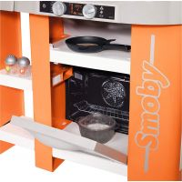 Smoby Kuchynka Tefal Studio XL Bubble oranžovo-šedá elektronická 5