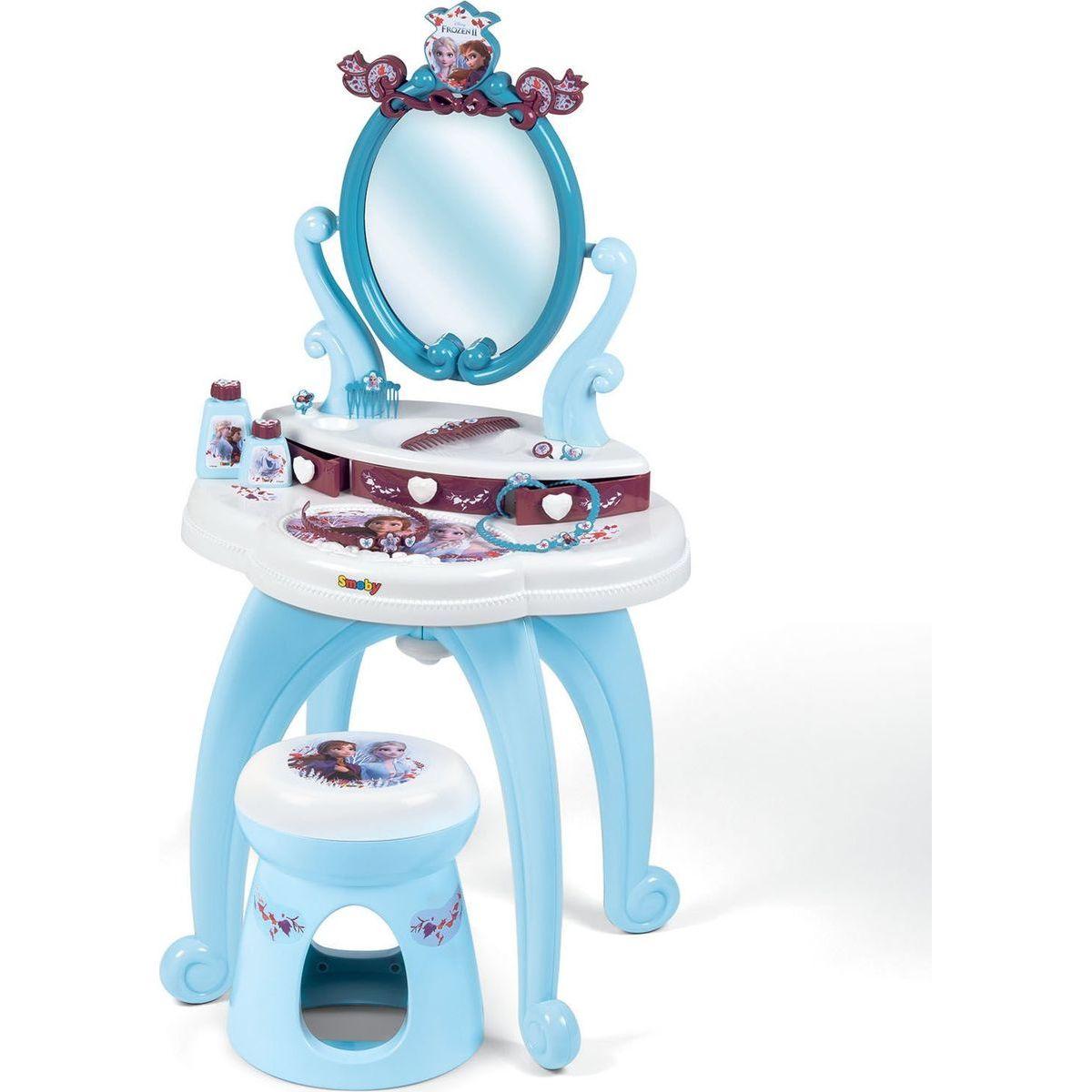 Smoby Ľadové kráľovstvo 2 Toaletný stolík so stoličkou 2v1