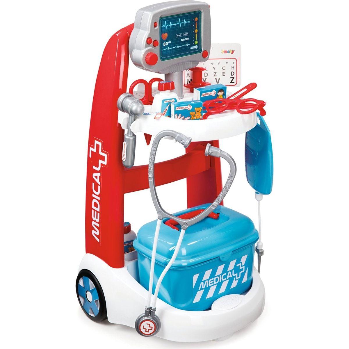 Smoby Lekársky elektronický vozík s príslušenstvom 340202