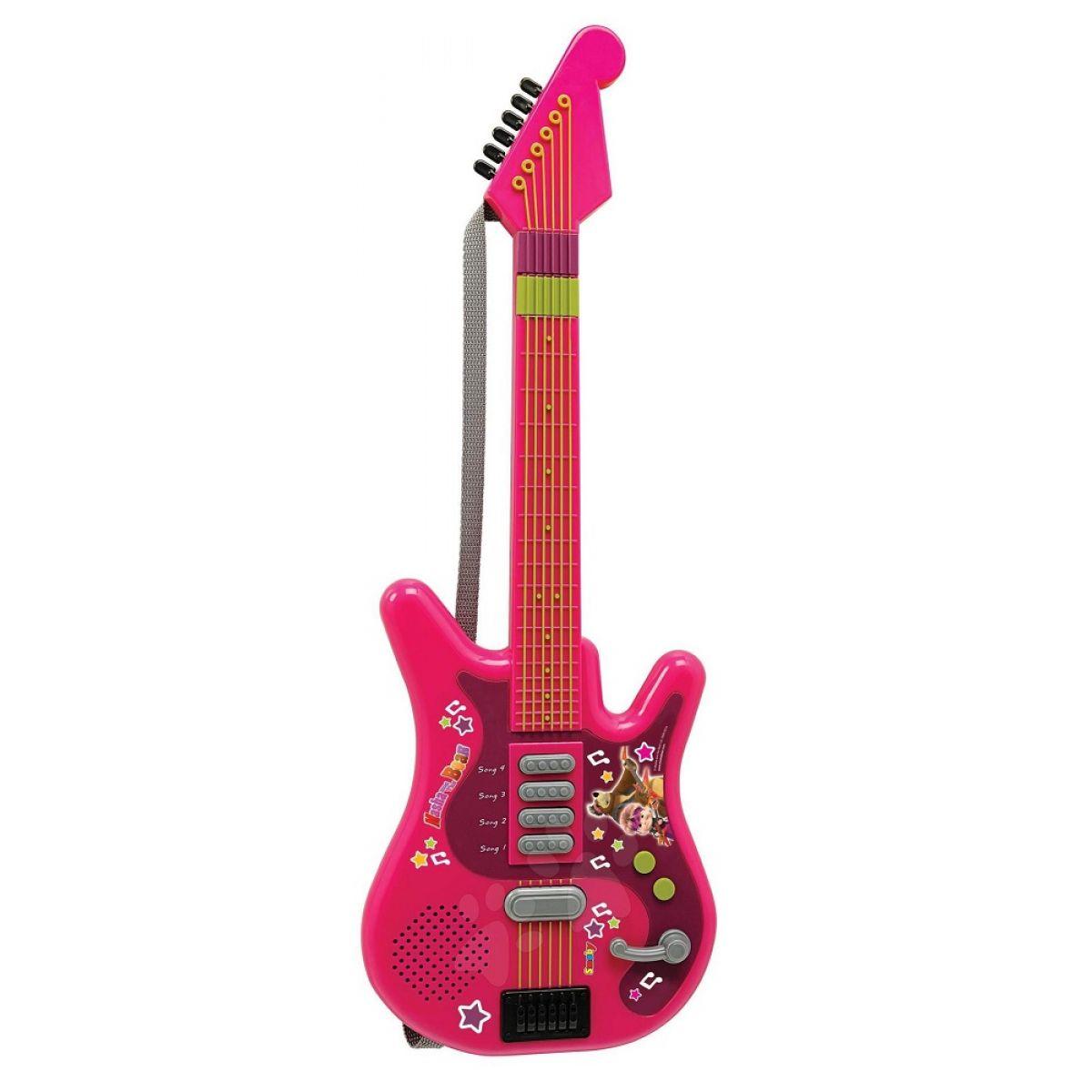 Smoby M&B Elektrická gitara Máša a medveď