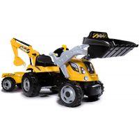 Smoby Šliapací traktor Builder Max s bagrom a vozíkom