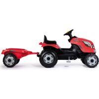 Smoby Šliapací traktor Farmer XL červený s vozíkom 2