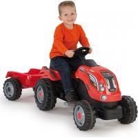 Smoby Šliapací traktor Farmer XL červený s vozíkom 3