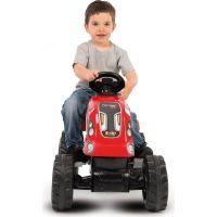 Smoby Šliapací traktor Farmer XL červený s vozíkom 4