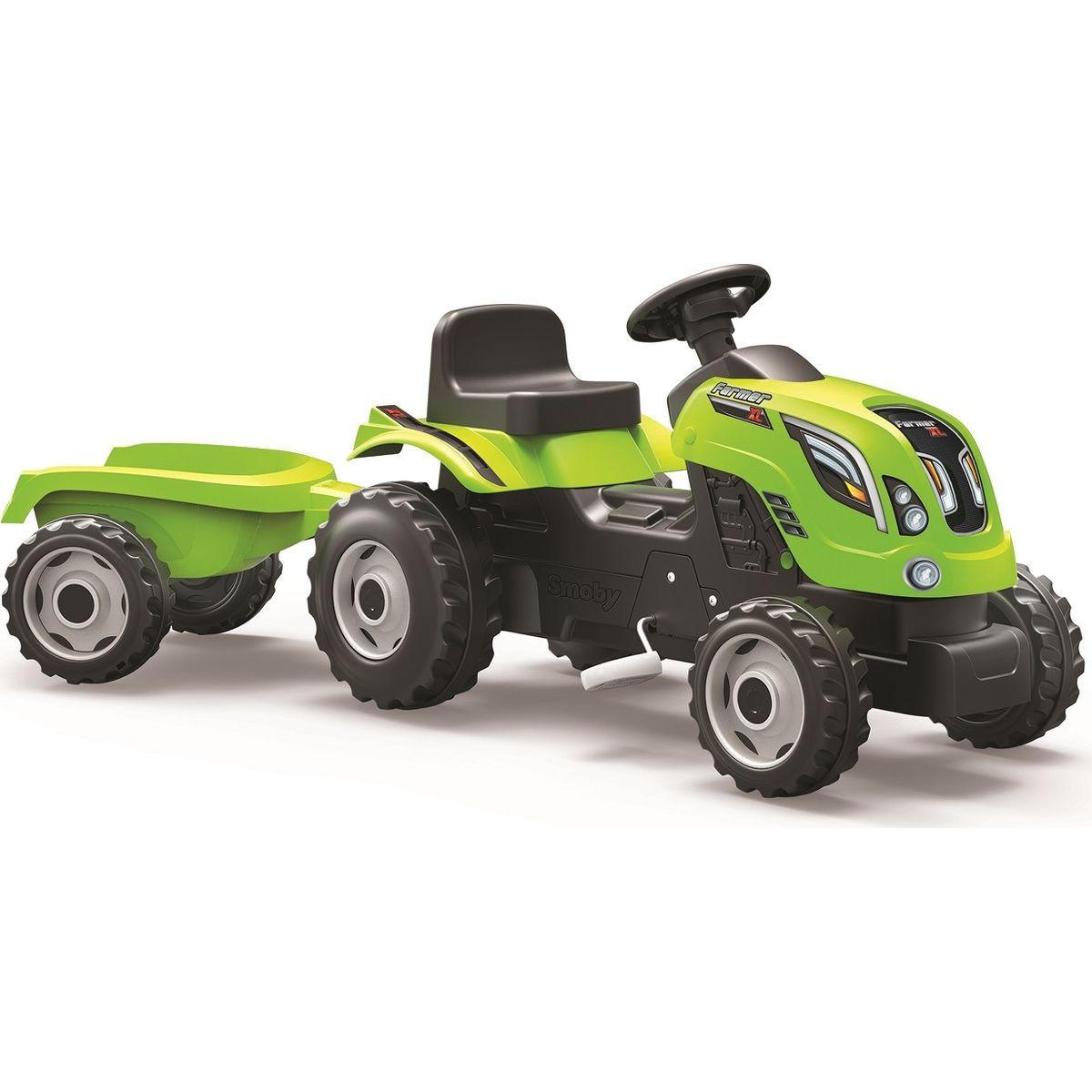 Smoby Šliapací traktor Farmer XL zelený s vozíkom