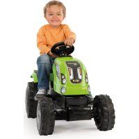 Smoby Šliapací traktor Farmer XL zelený s vozíkom 3