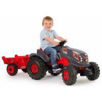 Smoby Traktor pre deti šliapací Stronger XXL s prívesom šedo-červený 2
