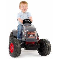 Smoby Traktor pre deti šliapací Stronger XXL s prívesom šedo-červený 3