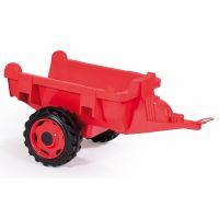 Smoby Traktor pre deti šliapací Stronger XXL s prívesom šedo-červený 4