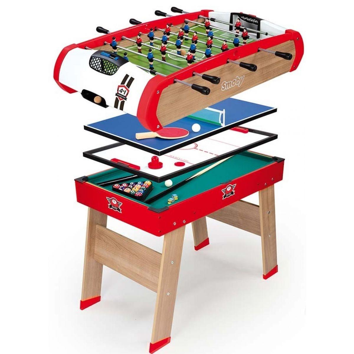 Smoby Stolný drevený futbalový stôl Powerplay 4v1