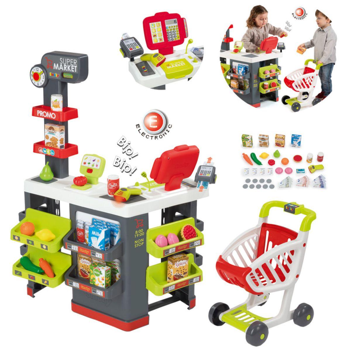 Smoby Supermarket s nákupným vozíkom a množstvom príslušenstva