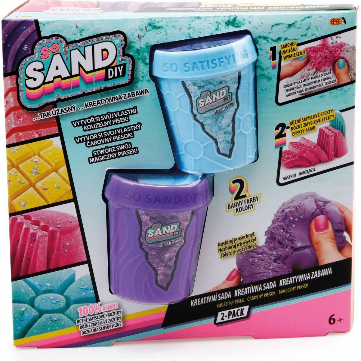 So Sand čarovný piesok 2pack fialový s modrým