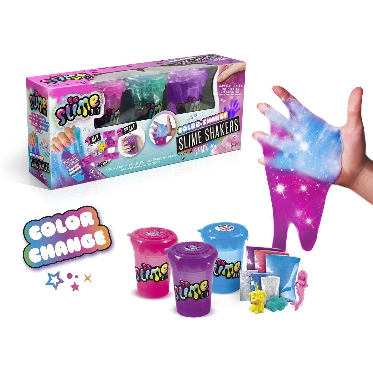 So Slime Shaker 3 pack mení farbu