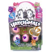 Spin Master Hatchimals zvířátka ve vajíčku čtyřbalení s bonusem S2 Pejsek v růžovém košíku