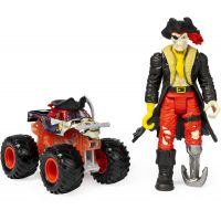 Spin Master Monster Jam kovové auto s figúrkou Pirates Curse a Captain Black